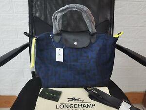 Longchamp Le Pliage LGP Tote Handbag Medium  From France - blue/Black