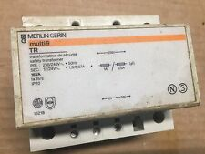 Merlin Gerin multi 9 TR 15218 safety transformer 230v-240v to 12v-24v ac 16va