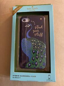 RARE, NIB KATE SPADE NEW YORK 'PEACOCK' BLUE With Crystals IPhone 7 Hard Case