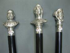 3 Madera Bastones Plateado Perilla Bastón de Senderismo Set Konvolut Sammlung