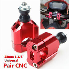 """1.13"""" 28mm Handlebar Handle Fat Bar Mount Clamp Riser for Motorcycle Accessories"""