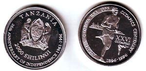 Rare 1996 Tanzania Aluminum 2000 shillings Olympic Decathlon T1-Mintage 100
