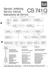 Dual Service Manual für CS 741 Q