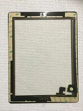 Black Pre-installed Adhesive Replacement Digitizer Touch Screen Glass For iPad 2