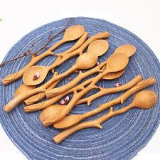 Long Handle Tableware Wooden Spoon Stirring Spoon Kitchen Utensil Soup Spoon