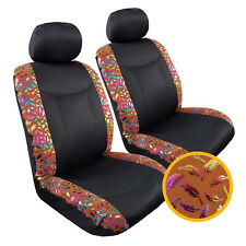 New Front Row Car Seat Covers Airbag Safe Italian Suede w/t Airflow Mesh