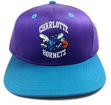 8dbbe7ad398da Adidas NBA Team Color Snapback Hat Cap Adjustable Flat Bill Logo Mascot  Retro Charlotte Hornets -