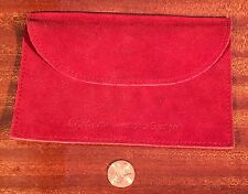 CARTIER RED Suede Jewelry Travel Pouch Envelope Thin Watch Lighter clutch bag