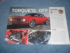"1968 Camaro TCI Torque Arm Track Test Info Article ""Torque'd Off"""