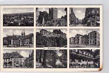 SELTEN 9-Bild Foto AK 1939@Eger Sudetenland Cheb@Konrad-Henlein-Str Bahnhof uvm