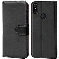 Verco Hülle Xiaomi Redmi Note 6 Pro Handyhülle Handy Tasche PU Leder Flip Case