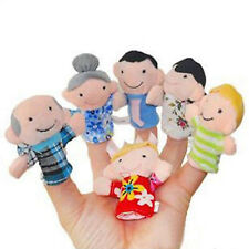 6PCS/Set Baby Play Game Learn Family Hand Cloth Doll Finger Puppets Funny Toys