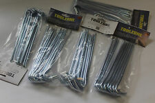 50 HEAVY DUTY METAL TENT GARDEN PEGS w POINTS  for AWNINGS, GAZEBO, GARDEN NET