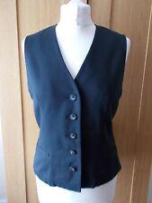 Women's Faded Black V Neck Waistcoat Vest by OASIS  Size 10