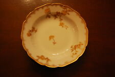 HAVILAND LIMOGES FRANCE SPONGED GOLD FLOWER DECOR PORCELAIN CABINET DISH PLATE 3