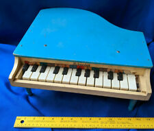 SCHOENHUT Blue 16 Key Baby Grand Piano Collectible TOY Vintage 14x6