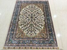 handmade silk rug carpet persian traditional hand knotted 2' X3'area rug floral