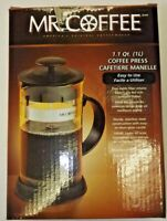 Mr. Coffee French Press / Coffee Maker 1.1Qt. - 1 L. BLACK