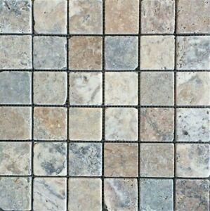 Antique Onyx 2x2 Tumbled Travertine Backsplash Wall Floor Tile Bath Kitchen