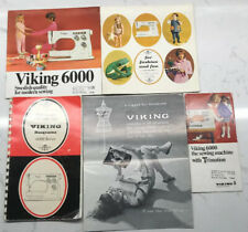 New listing Vintage Viking Husqvarna 6000 Series Instuction Manual And Additional Booklets