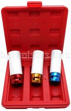 "3pc 1/2"" DR. Color Coded Thin Wall Wheel Nut Deep Impact Socket Set 17 19 21mm"