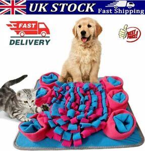 UK Pet Snuffle Mat Dog Puppy Slow Feeding Interactive Training Foraging Washable
