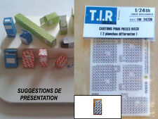2 PLANCHES DE CARTONS D'EMBALLAGE POUR PIECES IVECO, ACCESSOIRES DIORAMA 1/24eme