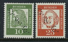 Germany-Berlin 2 stamps with D.R.G. Rocket Perfins Lochungen VF-NH