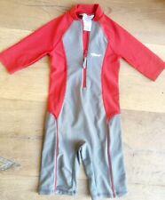 John Lewis 3-4 Years boy Sun Safe Protection UV Swim suit Costume grey red shark