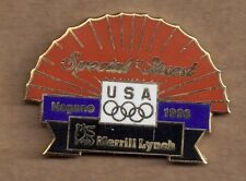 1998 Merrill Lynch Nagano Olympic Pin Special Guest Fan USA Rings