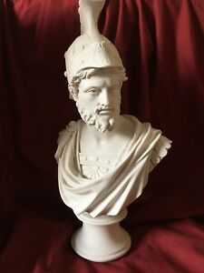 Ajax The Great Bust Statue - Greater Aias Bust - Made in Europe (16in/41cm)