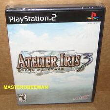 Atelier Iris 3: Grand Phantasm New Sealed (Sony PlayStation 2, 2007) PS2