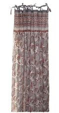 Anokhi Mauve, Rust, Grey Paisley Cotton Curtain Panels