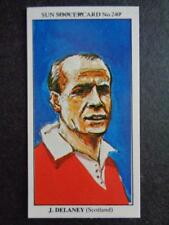 The Sun Soccercards 1978-79 - Jimmy Delaney - Scotland #240