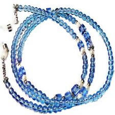lanyard - Soft Blue and White Reading Eye glasses, Sunglasses, spectacle chain