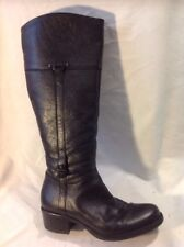 Roberto Vianni Black Knee High Leather Boots Size 38