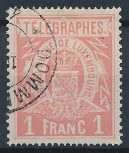 [39617] Luxembourg 1883 Telegraph Good stamp Perf 14x11.5 VF used V:$90