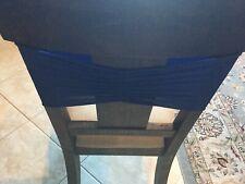 Navy Ruffled Spandex Chair Band - 100