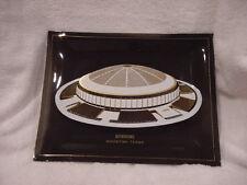 Ultra Rare 1960's Houston Astros Astrodome Square Smoked Glass Dish, Mint!