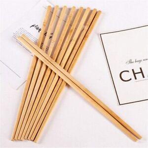 10pairs Reusable Bamboo Chopsticks Sushi Chinese 24cm Oriental Food Chop Sticks