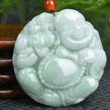 Certified Natural Jadeite Jade Maitreya Necklace Pendant Charm Jewelry Amulet