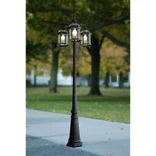 Portfolio Outdoor Lamp Post Pole Mount Light Lighting Fixture 3 Lights Lantern!