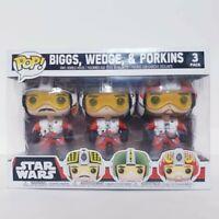 Star Wars X-Wing Pilots Biggs + Wedge + Porkins Funko Pop Vinyl 3-Pack
