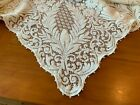 Vtg Quaker ? Lace Tablecloth Banquet Off White Cream Ivory Picot Loops 64 x 106