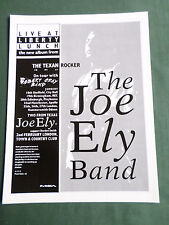 THE JOE ELY BAND  - MAGAZINE CLIPPING / CUTTING - 1 PAGE ADVERT