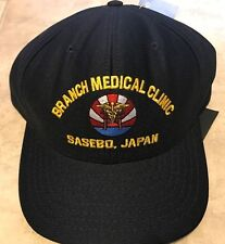 Branch Medical Clinic Sasebo Japan Eagle Crest Baseball Cap Hat NEW w/ Tag Black