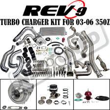 REV9 COMPLETE BOLT ON T3 60-1 TURBO CHARGER KIT FITS 03-06 350Z Z33/G35 VQ35DE