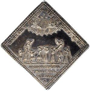 Bavaria Peace Festival/Battle of Blenheim Silver Klippe Medal 1704 PCGS MS 63