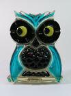 Vintage Resin Owl Napkin/Letter Holder Turquoise & Black New Designs Inc 1964