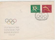 Germany 1960 Celebrating Olympic Games Rings Slogan Cancel Stamps Cover Rf 23408